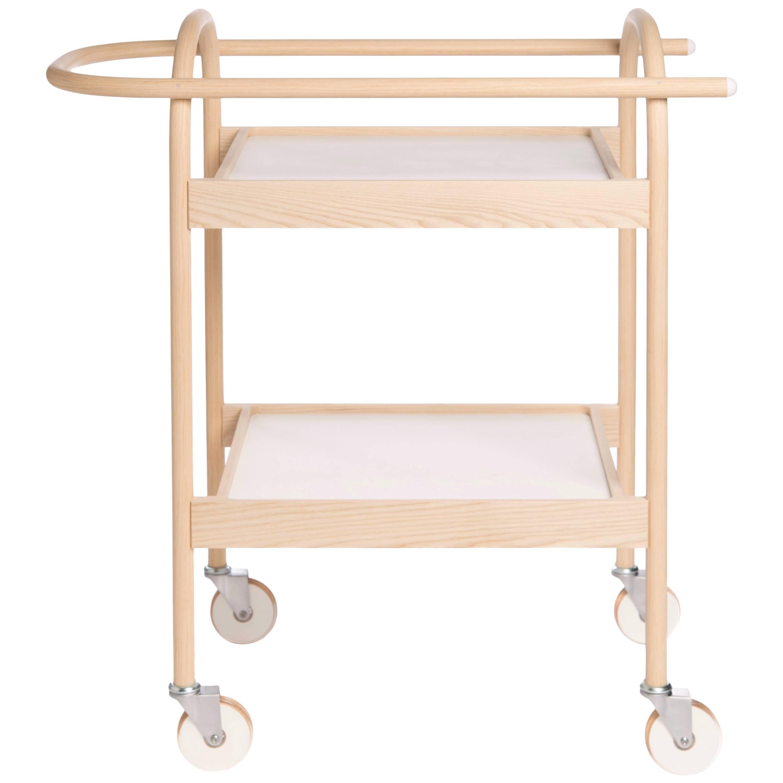 U3 Serving Trolley/ Bar Cart in Solid Wood, by Bowen Liu