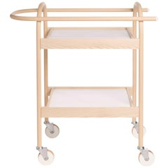 U3 Serving Trolley/ Bar Cart in Solid Wood, by Bowen Liu
