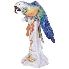 Life-Size Mid-Century Parrot Sculpture