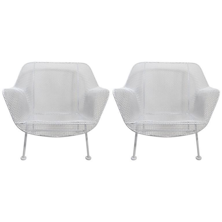 Pair of Woodard Lounge Chairs Freshly Powder Coated