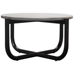 Gathering Side Table, Marble and Solid Wood