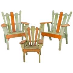 Family Set of 1960s Adirondack Chairs
