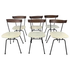 Classic Modernist Dining Chairs. Iron and Plywood by Clifford Pascoe