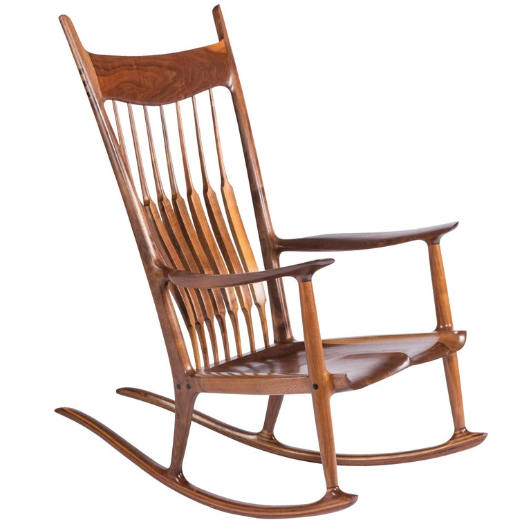 Early and Unique Sam Maloof Rocker, 1977