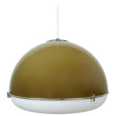 Ceiling Light with Bi-Colored Plastic Shade from Germany, 1970s