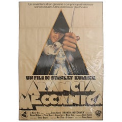 "Vintage Italian ""Arancia Meccanica"" (""A Clockwork Orange"") Movie Poster"