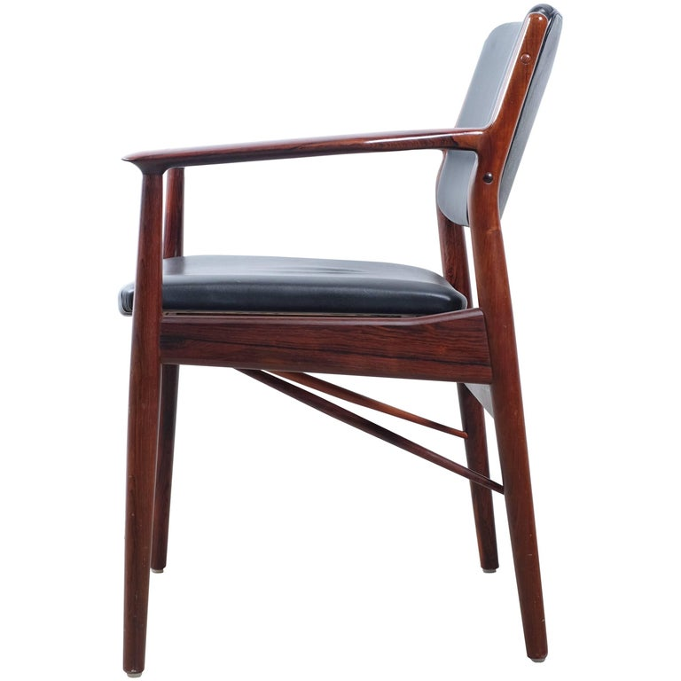 Teak And Oak Framed Chairs And Settee By Arne Vodder At