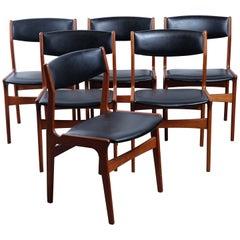 Set of Six Dining Chairs in Teak by Nova, Danish Design