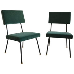 Set of Two Reupholstered Chairs, circa 1960
