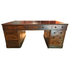 19th Century Impressive Georgian Mahogany Double Sided Partners Desk