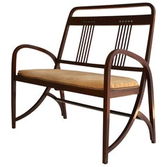 Thonet Model 511 Bentwood Bench, Vienna Secession, circa 1900