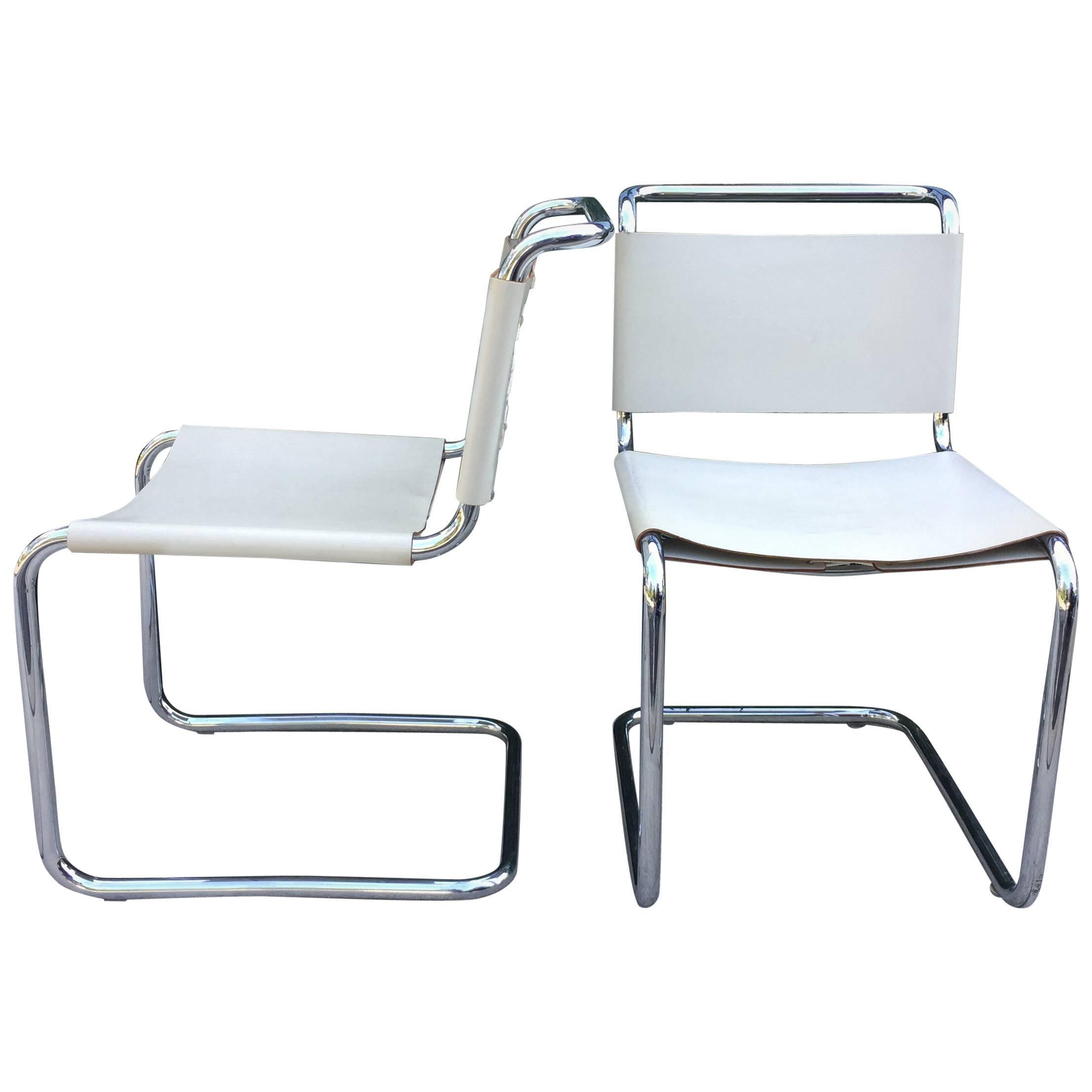 Marcel Breuer Tubular Chairs, Pair For Sale