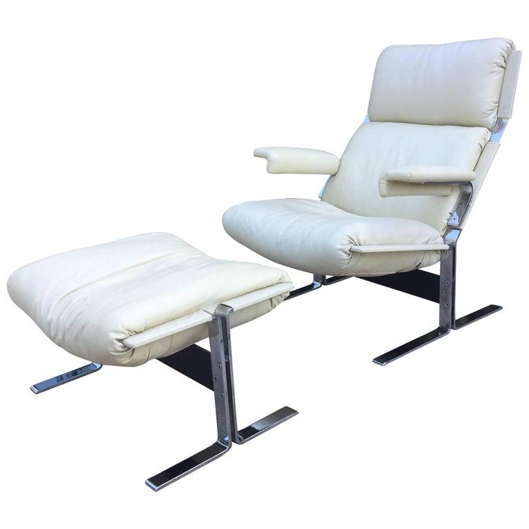 Saporiti Lounge Chair and Ottoman 1