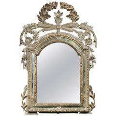 Italian Neoclassic Silver Gilt Mirror