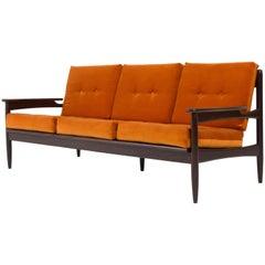 Striking Danish Organic Mid-Century Modern Bench or Sofa by Lifa, 1960s