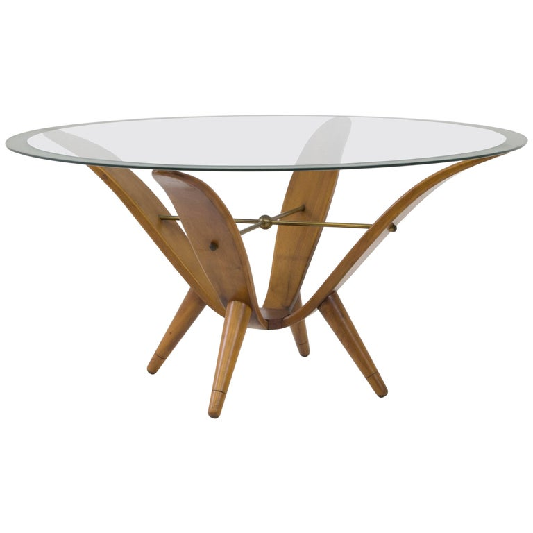 Stylish Italian Mid Century Modern Coffee Table In The Style Of Gio Ponti 1950s For Sale At 1stdibs