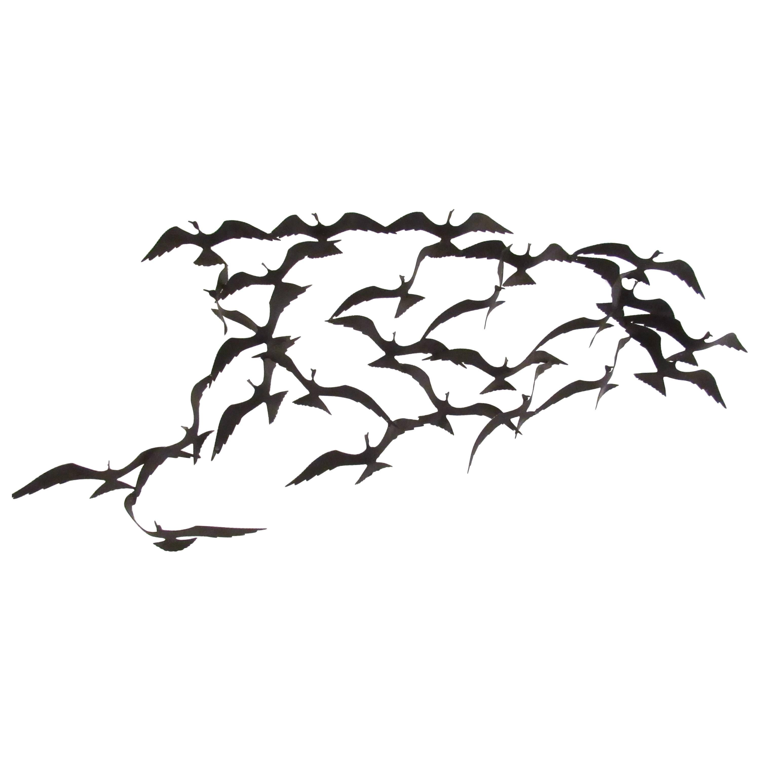 large modern wall art for sale at 1stdibs 70s Style Home Decor vintage modern metal wall art birds in flight