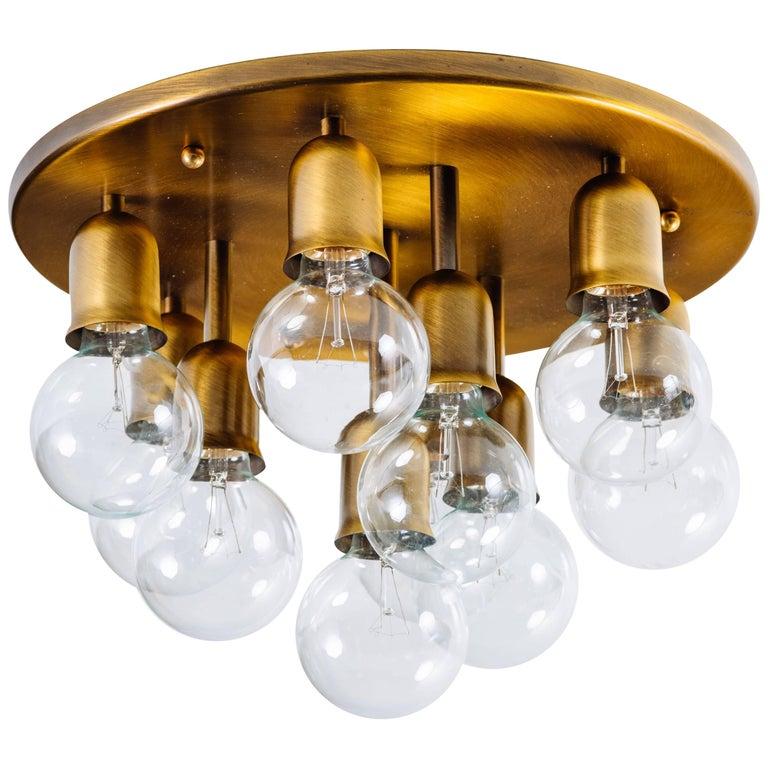 German Mid-Century Sputnik Flush Mount Light by Cosack For Sale
