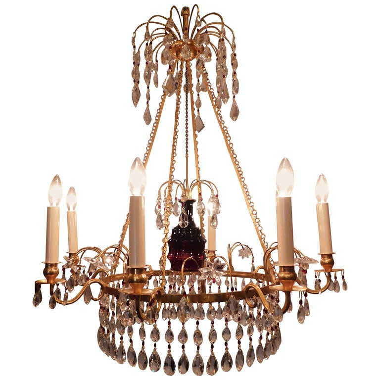 Neoclassical Style Six-Light Russian Chandelier For Sale at 1stdibs
