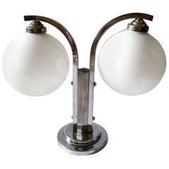 Art Deco Modernist Double Shade Table Lamp