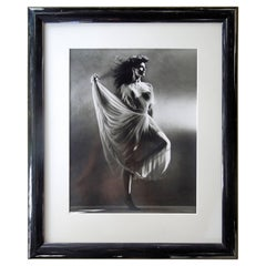 Original Greg Gorman Gallery B&W Photograph of Lovely Joan Severance