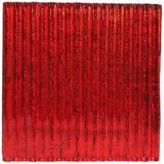 Murano Textured Glass Tiles in Red, Italy, 2017