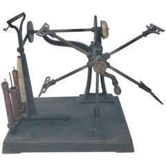 "Antique Yarn Winder, by ""Brown & Sharpe Mfg. Co., Providence R. I"