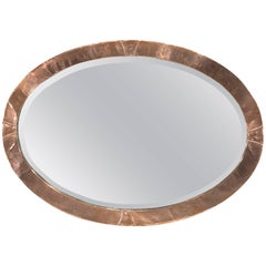 Arts & Crafts Hammered Copper Wall Mirror, Attributed to the Glasgow School