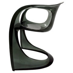 Smoked Lucite Casalino Chair by Alexander Begge