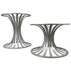 Pair of Woodard Aluminum Table Bases or Pedistals