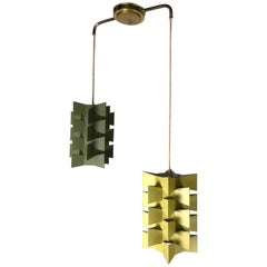 Anton Fogh Holm and Alfred J. Andersen; Enameled Steel Double Pendant Light