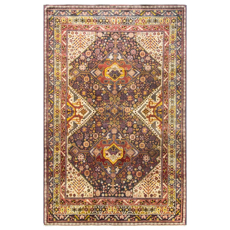 Unusual Persian Qashqai Carpet