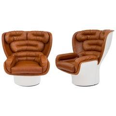 Pair of Joe Colombo 'Elda' Swivel Chairs