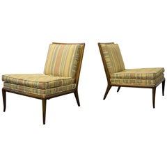 Pair of Slipper Lounge Chairs by T.H. Robsjohn-Gibbings