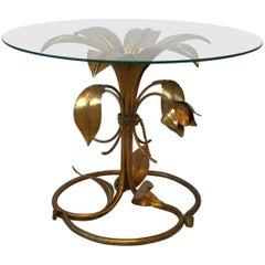 1950s Italian Arthur Court Style Gilded Lily Table