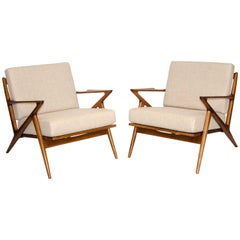 """Pair of Danish """"Z"""" Lounge Chairs by Poul Jensen for Selig"""