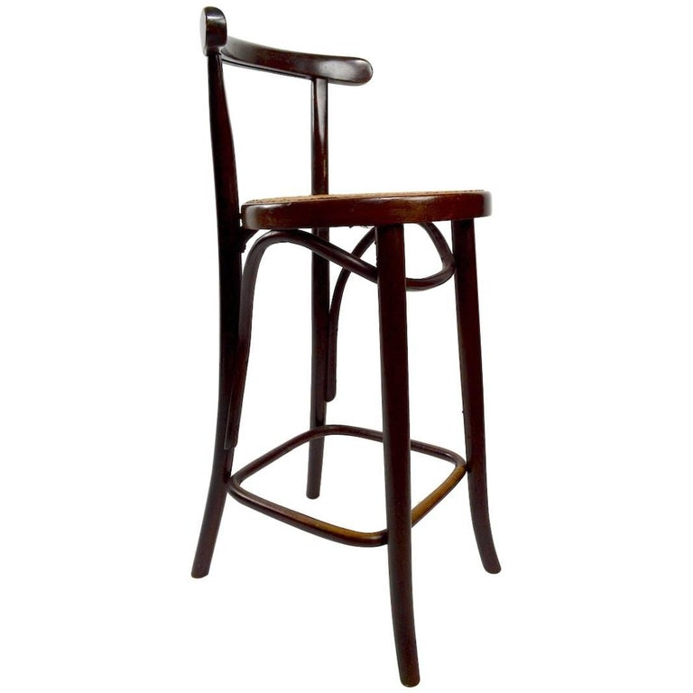 Pair Of Swedish Bentwood Stools For Sale At 1stdibs
