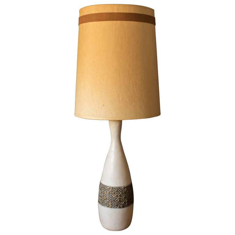 Mid-Century Modern Pottery Lamp
