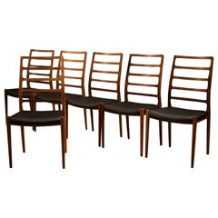 Set of Six Rosewood Møller No. 82 Dining Chairs