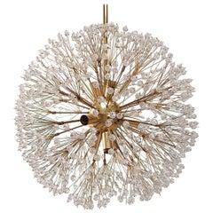 Hollywood Regency Crystal Glass Dandelion Chandelier