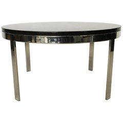 Milo Baughman Chrome and Granite Top Coffee Table