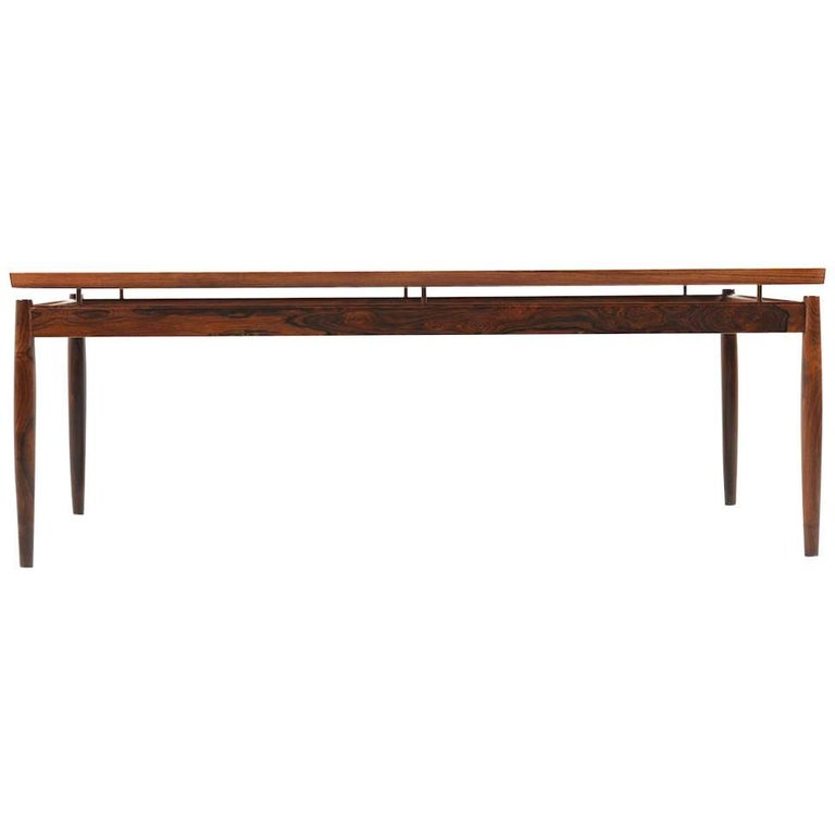 Rectangular Rosewood Sofa Table by Grete Jalk For Sale