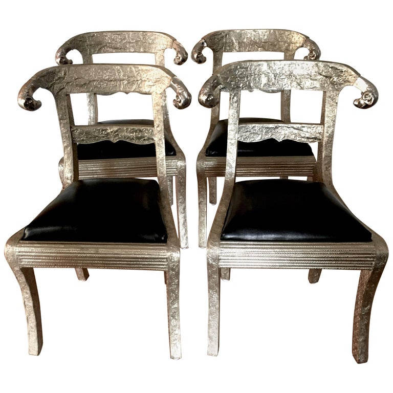 Four Silver Indian Wedding Chairs