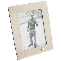 Italian Gucci Silver Plate Picture Photo Frame Golf Ball Design