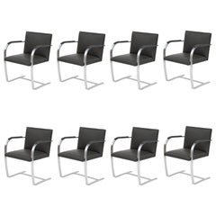 Eight Mies Van Der Rohe Knoll Brno Dining Chairs