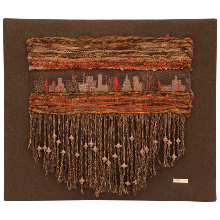 Fiber Art Wall Hanging by Joan Orr