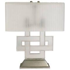"""René Lalique Table Lamp """"Entrelacs"""""""