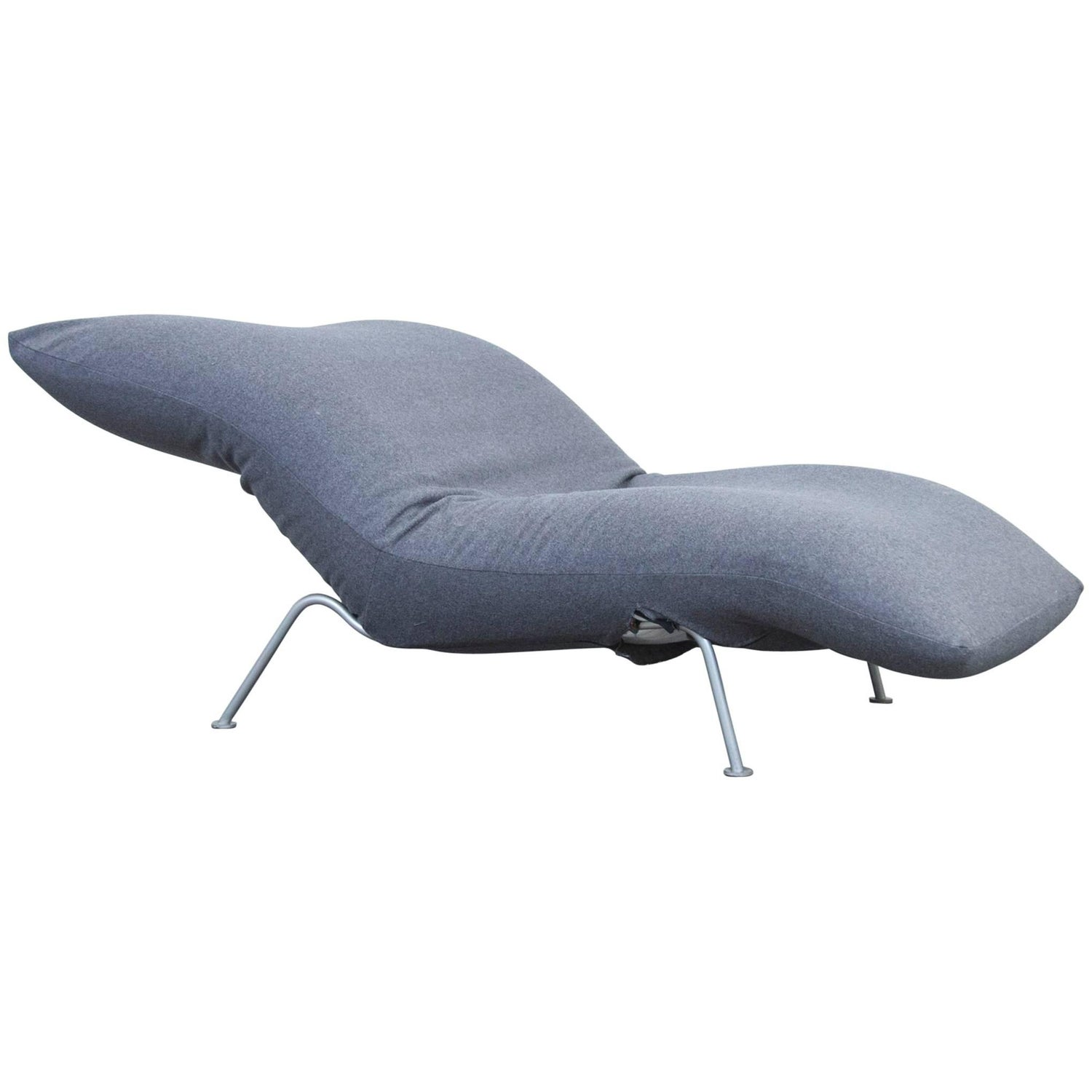 Recamiere modern grau  Lignet Roset Calin Fabric Chaise Longue Couch Chair Grey Function ...