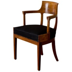 Desk Chair Swedish, 19th Century Neoclassical