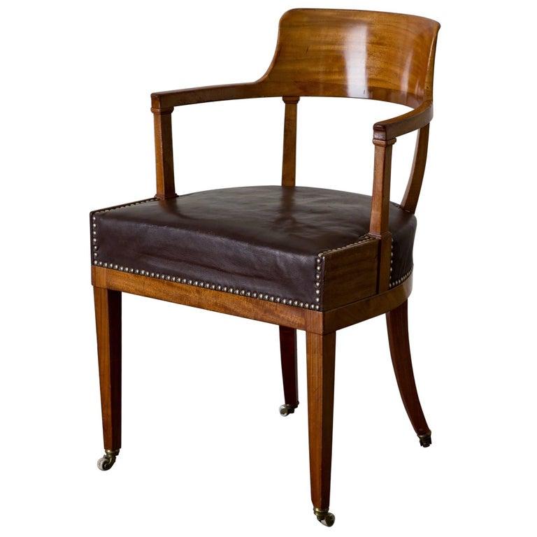 Desk Chair Swedish Karl Johan / Empire, 19th Century, Sweden